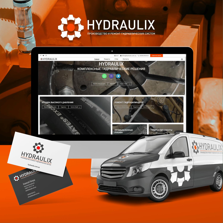 HYDRAULIX. Identity. Branding. Web development. CRM integration. Creative. Promotion. Consulting.